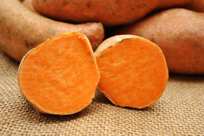 Sweet Poatoes Over Burlap